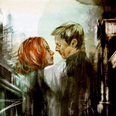 Black Widow/Hawkeye (Scarlett Johansson, Jeremy Renner) Avengers Fan Art
