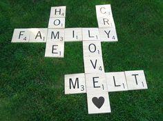 Huge Scrabble Letter Tiles  7 tiles by 15tangerines on Etsy, $52.00
