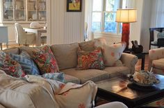 Beach Cottage Living Room by jane Coslick