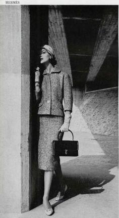 Vintage Hermes Vintage Fashion 1950s, Vintage Glam, Vintage Bags, Vintage Beauty, Vintage Dresses, Hermes Vintage, Vintage Outfits, Ad Fashion, Vogue Fashion