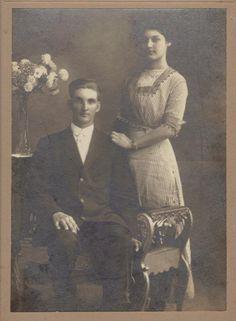Grandma and Grandpa Johnson wedding picture