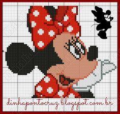 Boa semana a todos!  Hoje trago um novo gráfico da Minnie para vocês:       e aqui minha encomenda com ele:     e o sapatinho: