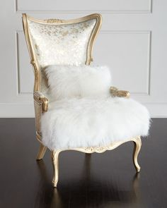 Fiorello Hairhide Wing Chair by Massoud at Neiman Marcus.