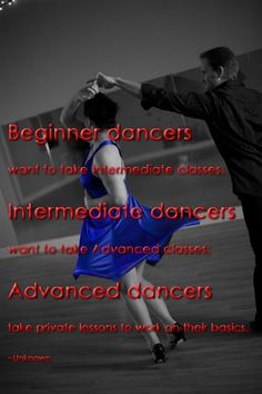 Information on group classes and private lessons in ballroom, latin, and swing dancing.