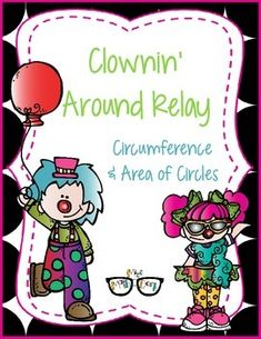 Speed, accuracy, and a ton of fun all rolled into this seasonal activity.  Groups of 4 work together to answer review problems.  As they work their way through the activity an ADORABLE CLOWN is being formed.This review includes:~2 rounds choosing whether the situation represents area or circumference~2 rounds finding Circumference of a circle given radius and diameter information~4 rounds finding Area of a circle given radius and diameter  information (this includes halving an odd diameter…