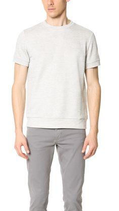 THEORY Danen Axis Terry Short Sleeve Sweatshirt. #theory #cloth #sweatshirt