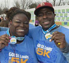 2013 GO! St. Louis Marathon Weekend 5K medals