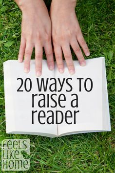 20 ways to raise a reader- a kid who reads is a kid who succeeds, right?  Love these tips!