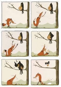 postupnosť - Havran a líška