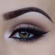 gorgeous matte brown eye with shimmery inner accent ~ we ❤ this! moncheriprom.com