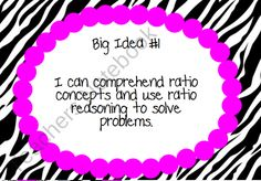 6th Grade Common Core Big Ideas from KlaRenays Shop on TeachersNotebook.com (10 pages)  - I have made my big idea posters now for 6th grade math!!!! This includes big ideas for all standards. There are 9 big ideas in all! This is great for the classroom.