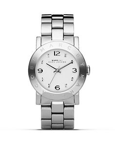 """MARC BY MARC JACOBS """"New Amy"""" Stainless Steel Watch, 36mm"""