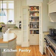 New Kitchen Pantry Ideas #kitchenpantry