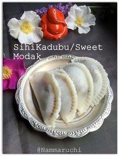 Namma Saviruchi: Kayi Kadubu/Sihi Kadubu/Steamed Modaka With Coconut And Jaggery Stuffiing/Kozhukattai/Ukadiche Modak Raw Food Recipes, Indian Food Recipes, Sweet Recipes, Vegetarian Recipes, North Indian Recipes, South Indian Food, Dessert Drinks, Desserts, Maharashtrian Recipes