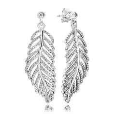 05ea83dfb ... discount these show stopping feather earrings have been beautifully  crafted from sterling silver. the cut ...