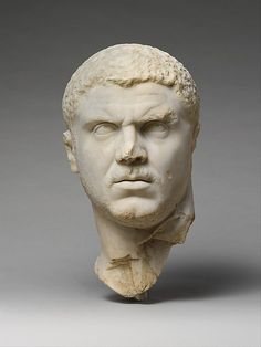 Marble portrait of the Emperor Caracalla, the 22nd emperor, originally co-emperor with his brother Geta ... but not for long.