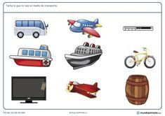 Ficha de medios de transporte para primaria