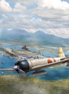 Mitsubishi Zero by Jim Laurier - for Osprey's forthcoming book about Pearl Harbor