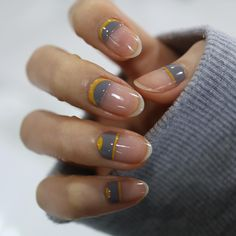 Minimal negative space nail art design idea