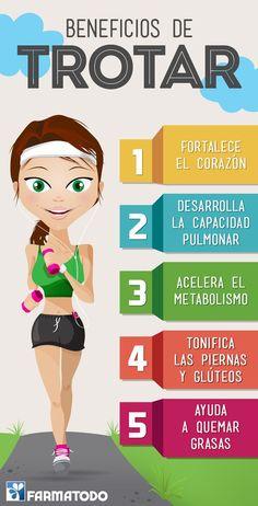 Beneficios de trotar #Ejercicio #Salud #Belleza: