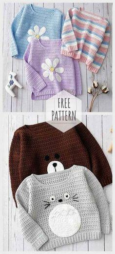 Trendy Knitting Dress Girl Toddlers Crochet Baby Dress Knitting Crochet - trendige strickkleid mädchen kleinkinder häkeln baby kleid stricken häkeln - robe de tricot à la mode fille tout-petits crochet robe de bébé tricot crochet Pull Crochet, Crochet Bebe, Baby Girl Crochet, Crochet For Kids, Knit Crochet, Crochet Children, Crochet Hats For Girls, Crochet Baby Stuff, Knitting Baby Girl