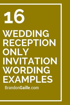 Reception only invitation wording wedding help tips pinterest 16 wedding reception only invitation wording examples stopboris Gallery