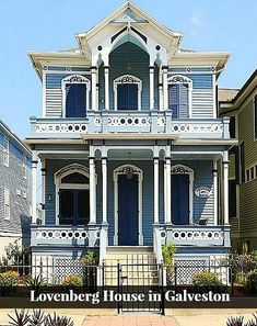 Check out this beautiful Italianate style home in Galveston, Texas covered with functional Louvered shutters.