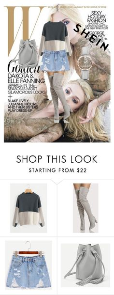 """""""http://www.polyvore.com/android http://www.shein.com/Color-Block-Funnel-Neck-Jumper-p-385792-cat-1734.html?utm_source=polyvoreQutm_medium=contestQurl_from=polysena87con"""" by azradesing ❤ liked on Polyvore featuring WithChic and CLUSE"""