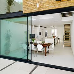 Sliding door kitchen extension