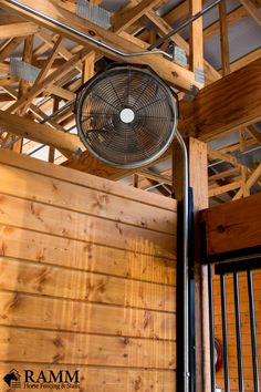 "This 18"" basket fan is designed especially for agricultural use. Unlike most fans which are NOT meant for use in barns, this fan has a totally enclosed motor with sealed ball bearings meaning it can be used in wet locations! These fans can even be sprayed down to remove dust and dirt, making them an excellent choice for wash bays and stables. #rammprojects #horsestallideas #diy #diyideas #horseranch #barnsafety #barnfan #dreambarn #horsestable #horsestableideas #dreamstable #rammstalls"