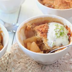 Pear & Ginger Crumbles