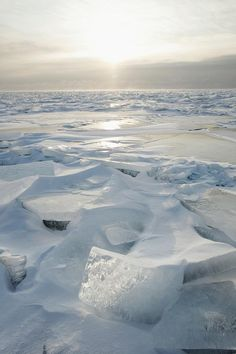 Minnesota, United States Of America Ice Chards On The North Shore Of Lake Superior