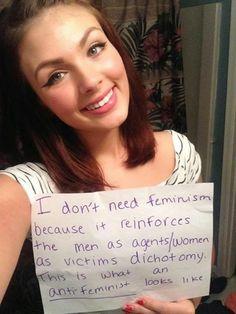 """""""Women Against Feminism,"""" a social media movement for women who have issues with with modern feminism, is Women Against Feminism, Modern Feminism, Anti Feminist, Intelligent Women, Explain Why, Women In History, Social Justice, Real Women, That Way"""