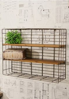 Metal Shelving Unit, Square Shelving Unit, Wall Mounted Shelf Unit