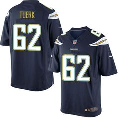 Men's Nike Los Angeles Chargers #62 Max Tuerk Limited Navy Blue Team Color NFL Jersey