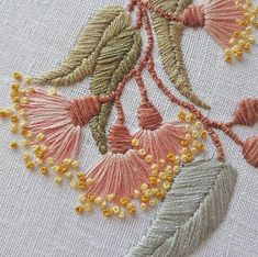 Hottest Pics Embroidery Designs free Ideas Welcome to side embelleshment! Embroidery generally is a relaxing creative outlet to help keep your Hand Embroidery Videos, Embroidery Flowers Pattern, Hand Embroidery Stitches, Embroidery Hoop Art, Hand Embroidery Designs, Ribbon Embroidery, Cross Stitch Embroidery, Flower Patterns, Machine Embroidery