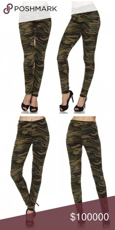 ! Thick premium fleece lined leggings Premium Fur Fleece Lined Camouflage Print Ankle Leggings This fur fleece print leggings made of premium material that offers control and smoothes curves and bumps.  It features soft fur fleece lined inside.  Wear these with a dressy top and a sexy pair of heels for a classy going out look, or an oversized off-the-shoulder top for a casual day ensemble.  Perfect for the fashionistas! Pants Leggings