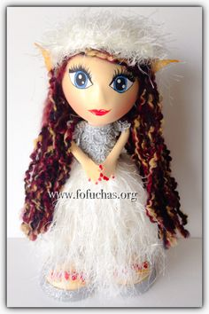 Nube is a fantasy fairy  fofucha doll. Stands at 11 inches. Handmade using foam sheets, yarn She is a Perfect collecting doll for A fairy fan. She can also be used as a centerpiece at your child's Fairy theme party. Or even as a caketopper. I can make other Colors or personalized. Available to purchase email info@fofuchas.org Like us on facebook.com/FofuchasHandmadedolls  #fofuchas #fairy #fantasy #Birthday