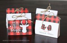 Buffalo Check Treat Bags For Christmas