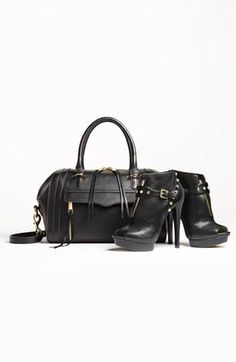 Fall fashion trend: Pair leather boots with a leather handbag.