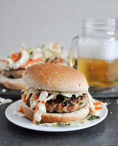 Thai Turkey Burgers are a perfect twist on a plain old burger for your next cookout | How Sweet It Is