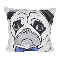 Loom and Mill 22 x 22-inch Pug Decorative Pillow