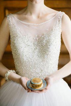 Cinderella inspired wedding gown by Allure Bridals.