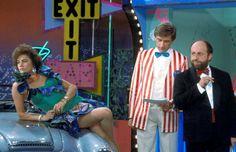 """Lory Del Santo con Ezio Greggio ed Enrico Beruschi in """"Drive In"""""""