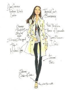 RENALDO BARNETTE SKETCHED MY OUTFITS DURING A NEW YORK FASHION WEEK