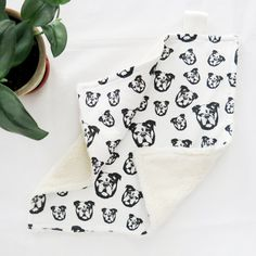 "English Bulldog Print Baby Comforter Mini Blanket, Organic Cotton Baby Lovey Security Blanket, Bulldog Lover Baby Shower Gift, Size 18x18"" Baby Shower Themes, Baby Shower Gifts, Baby Lovey, Baby Set, Baby Comforter, Organic Baby Clothes, Security Blanket, Baby Prints, Burp Cloths"