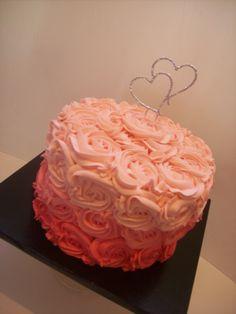 Ombre Rosette Cake Auckland $195