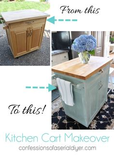Kitchen Cart Makeover :: Hometalk I have this cart, soon it will be so much more beautiful!!