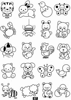 Cat Coloring Pages For Kids - Preschool and Kindergarten Art Drawings For Kids, Doodle Drawings, Drawing For Kids, Animal Drawings, Doodle Art, Easy Drawings, Art For Kids, Colouring Pages, Coloring Sheets