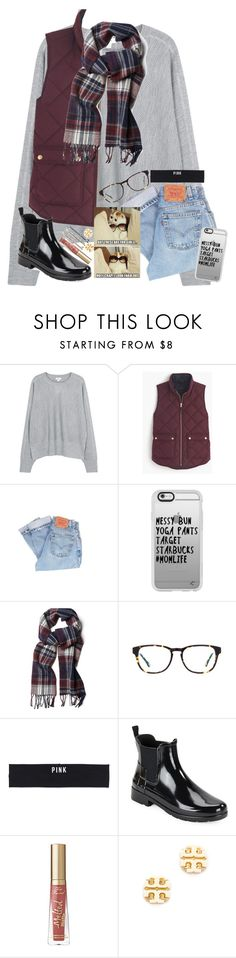 """""""October☕🍂💤🍁"""" by tinyblueowls ❤ liked on Polyvore featuring Vince, J.Crew, Levi's, Casetify, GANT, Victoria's Secret PINK, Hunter, Guide London and Tory Burch"""